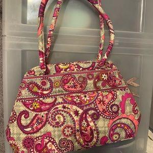 Vera Bradley paisley print bowling style bag